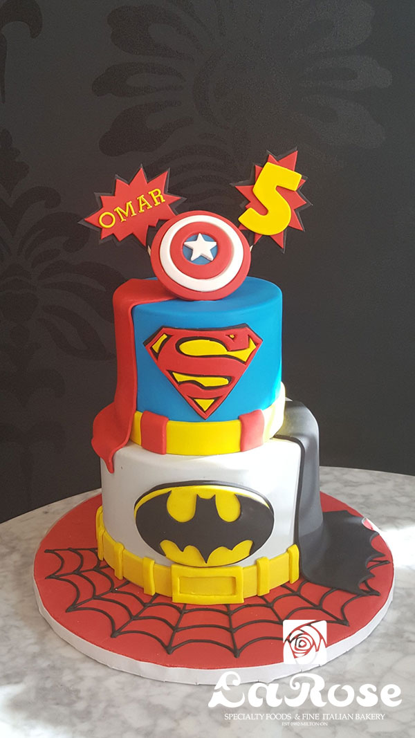Boys Birthday Cake - Superhero