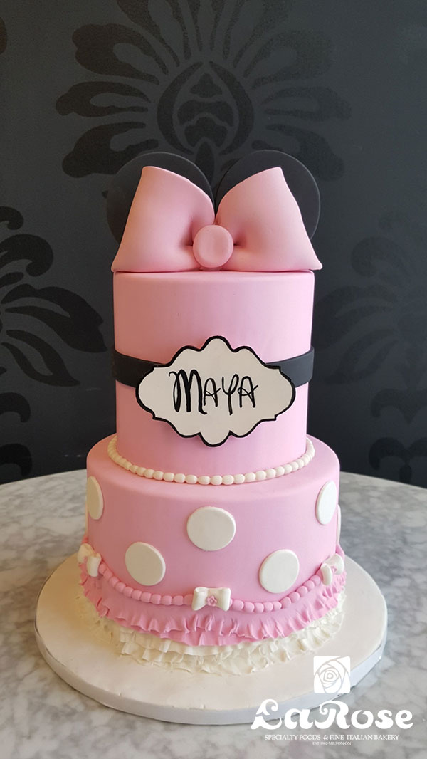 Girls Birthday Cake - Minnie With Skirting
