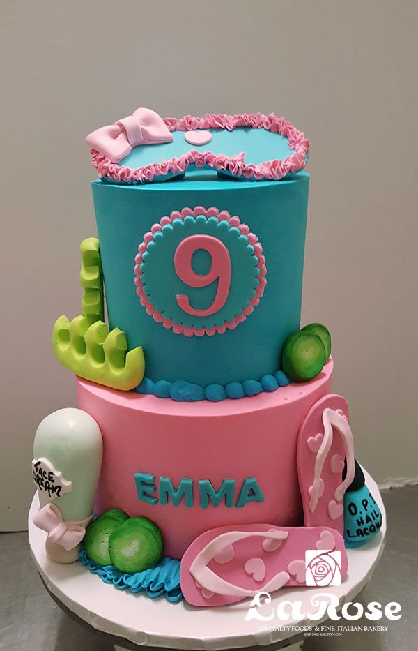 Girls Birthday Cake - Spa Theme