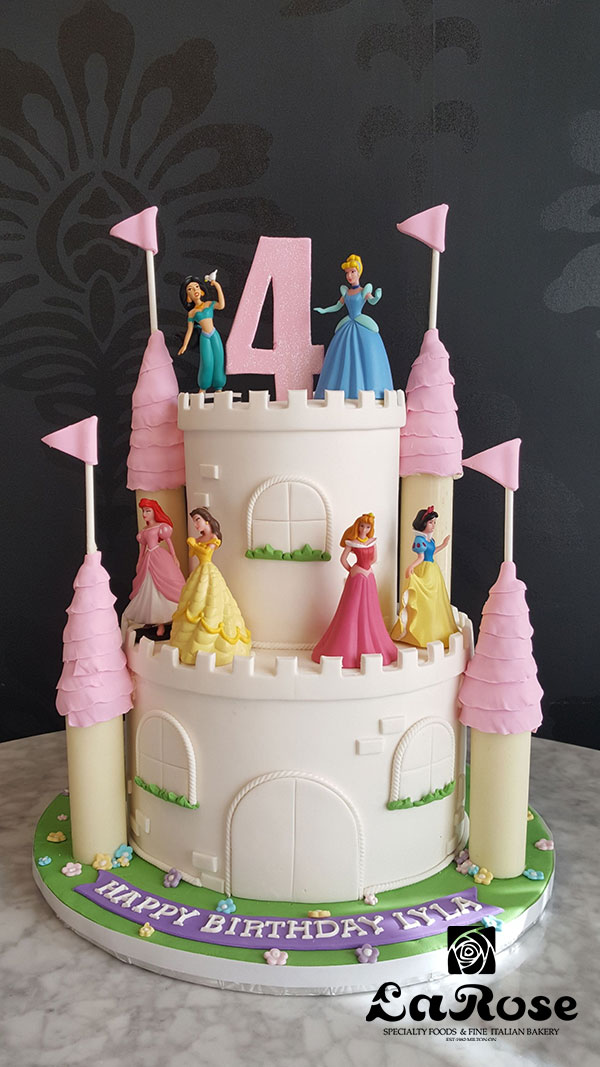 Girls Birthday Cake - White Princess Castle