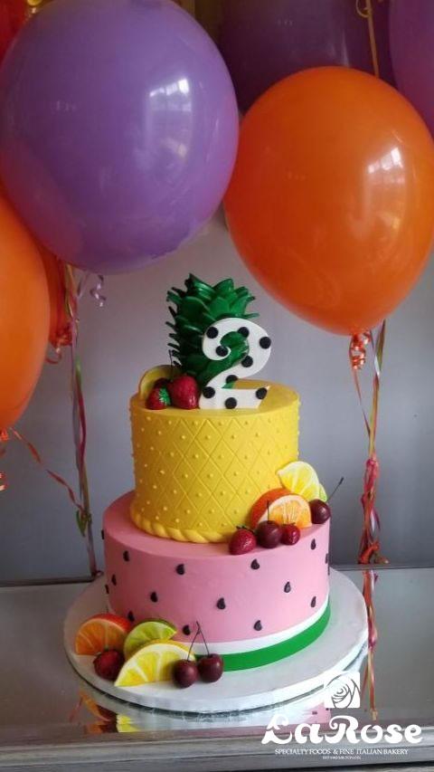 Tutti Frutti Birthday Cake
