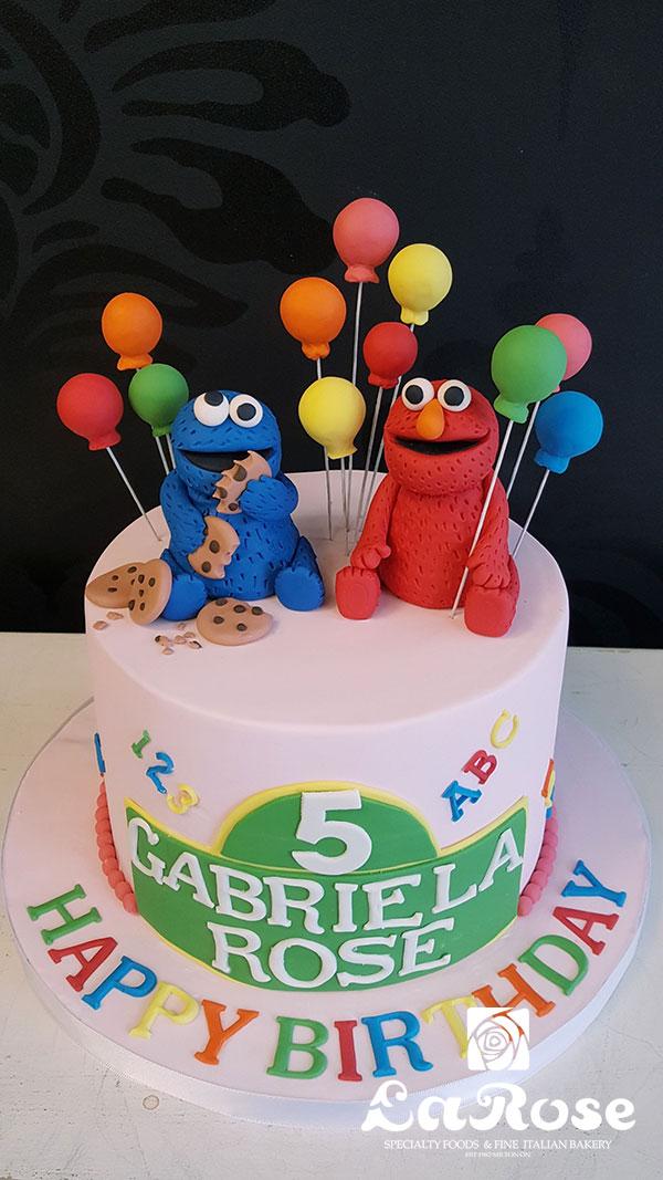 Elmo Cookie Birthday Cake