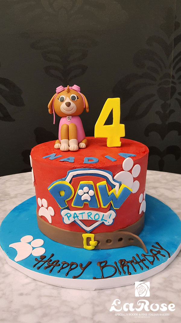 Paw Patrol With Sky Birthday Cake