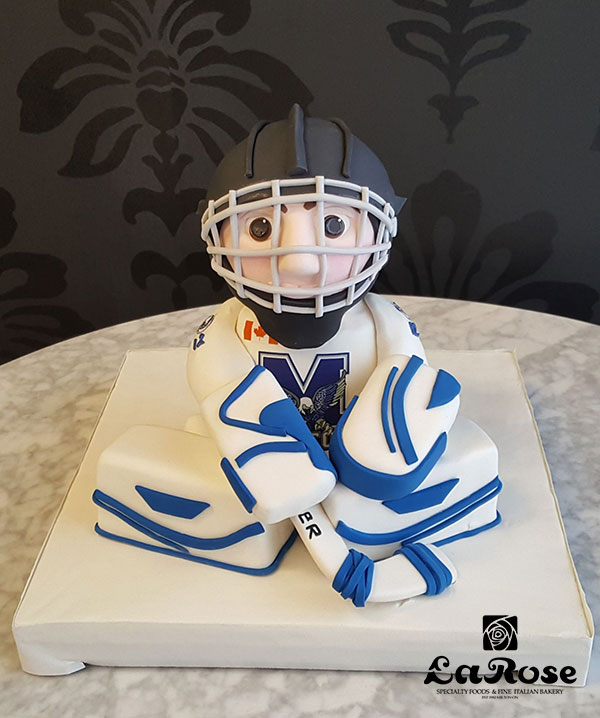 Hockey Goalie Birthday Cake