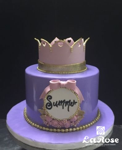 Princess Crown Birthday Cake