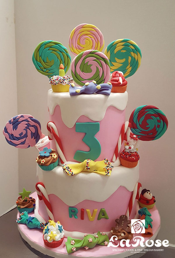 Candy Sweet Theme Birthday Cake