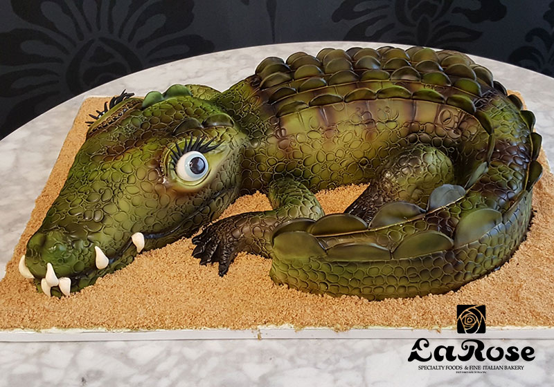 Sculpted Crocodile Birthday Cake