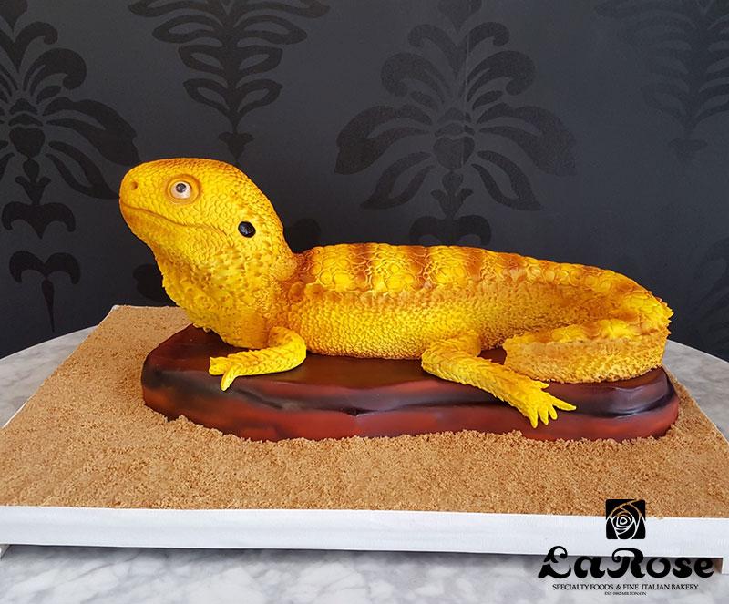 Sculpted Bearded Dragon Birthday Cake
