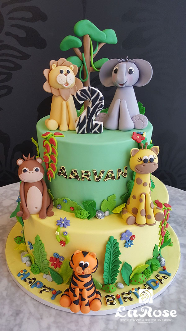 Kids Birthday Cake - Jungle Theme