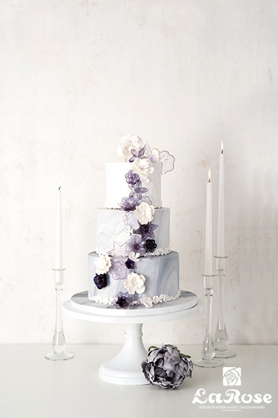 Marble With Sugar Flowers Vertical