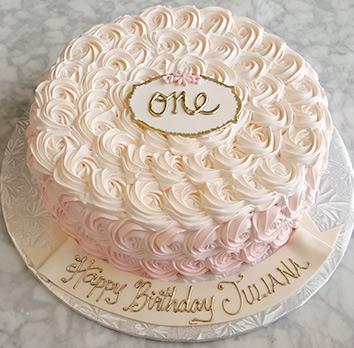 Rosette Kids Birthday Cake