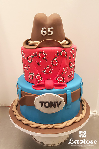 Cowboy theme cake by La Rose in Milton, ON