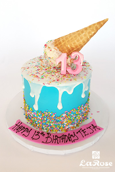Ice cream theme cake by La Rose in Milton, ON