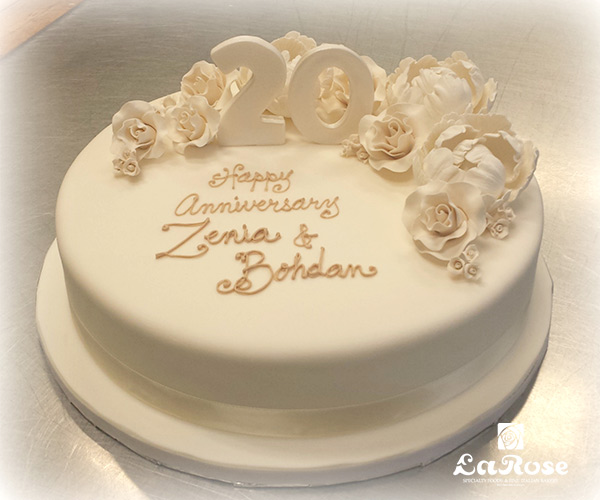 Showers And Anniversaries Cake White And Ivory by La Rose in Milton, ON