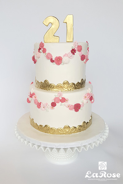 2 tier cake by La Rose in Milton, ON