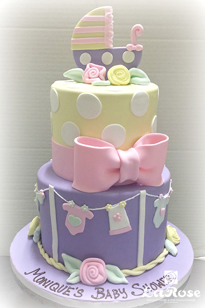 Showers And Anniversaries Cake Baby Shower Girl 2 Tier