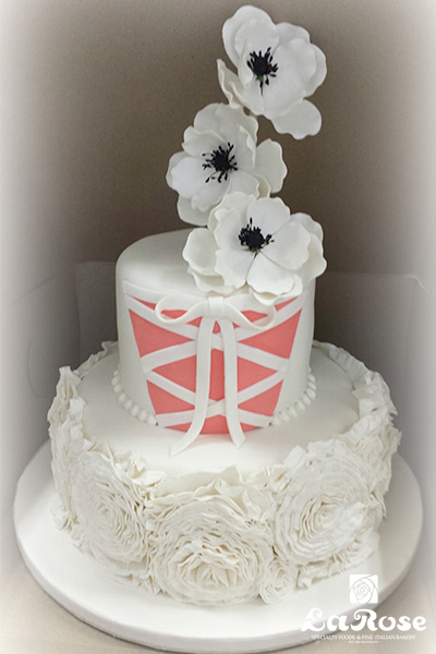 Bridal Shower Dress Cake by La Rose in Milton, ON