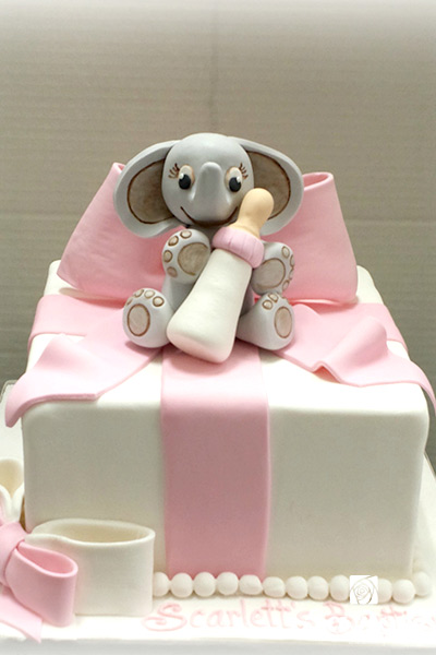 Gift Box With Elephant Cake by La Rose in Milton, ON