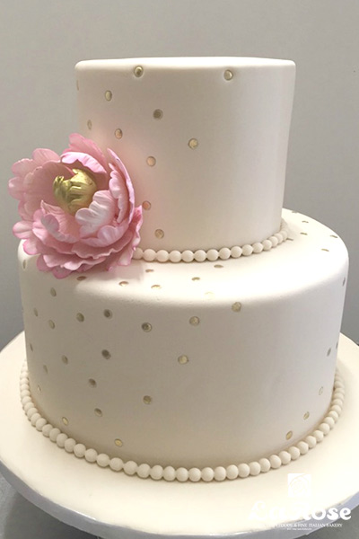 Gold Confetti Showers And Anniversaries Cake