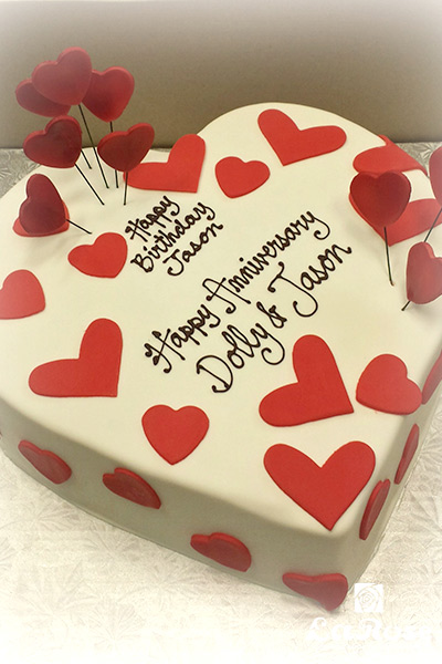 Heart Shape Anniversary Cake by La Rose in Milton, ON