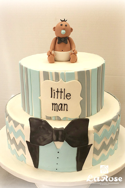 Little Man Shower Cake by La Rose in Milton, ON