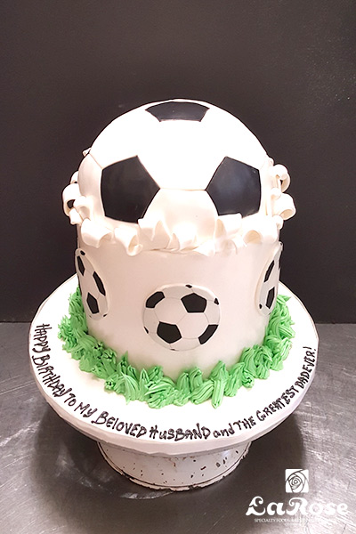 Football theme cake by La Rose in Milton, ON
