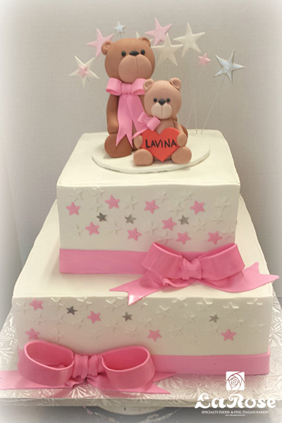 Teddy Bear Baby Shower Cake by La Rose in Milton, ON