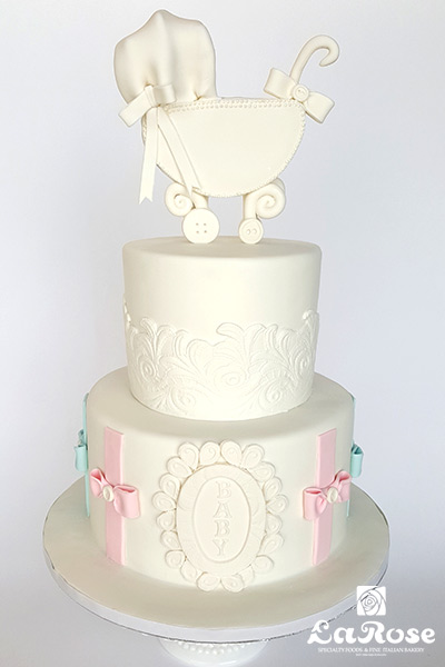 Baby shower cake by La Rose in Milton, ON