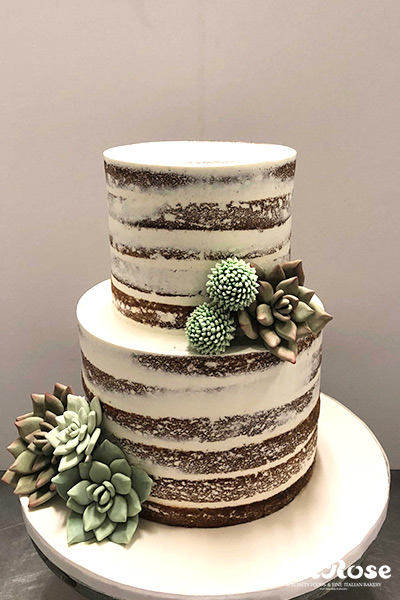 Semi Naked Cake With Succulents by La Rose in Milton, ON