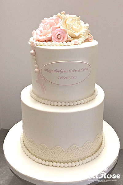 White With Rosary Cake by La Rose in Milton, ON