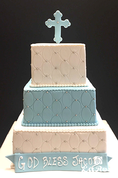 3 Tier Baptism Cake For Boy by La Rose in Milton, ON