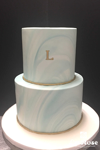 Light Blue Marble Cake by La Rose in Milton, ON