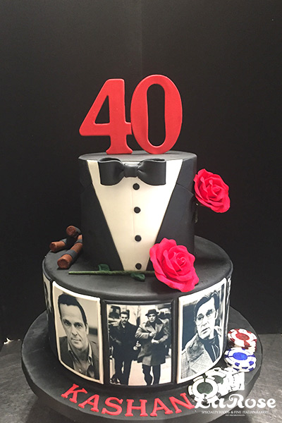 Casino coin theme cake by La Rose in Milton, ON
