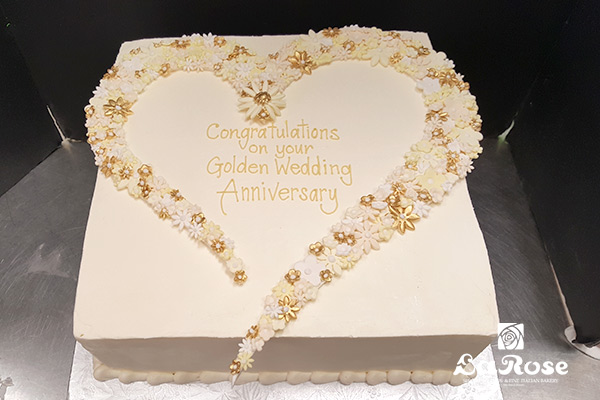 Best golden anniversary cake by La Rose in Milton, ON
