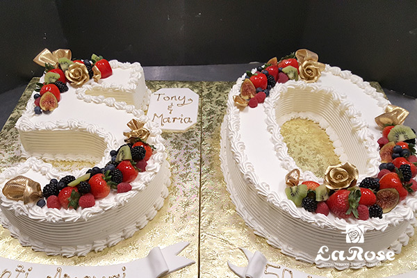 50th Tony & Maria anniversary cake by La Rose in Milton, ON