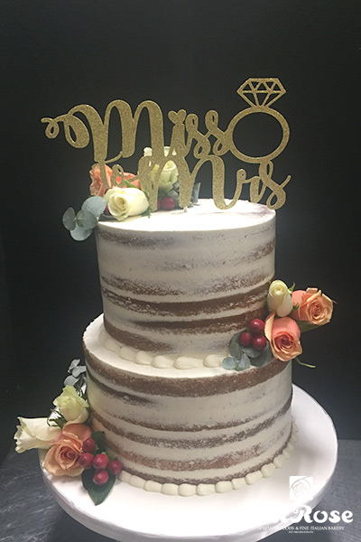 Mrs & Mr. - Anniversary cake by La Rose in Milton, ON