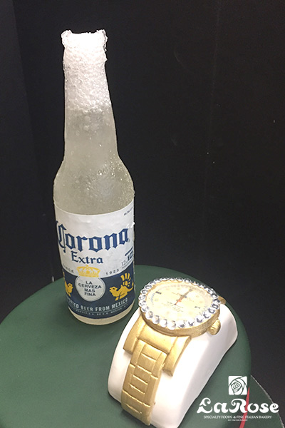 Golden watch theme cake by La Rose in Milton, ON