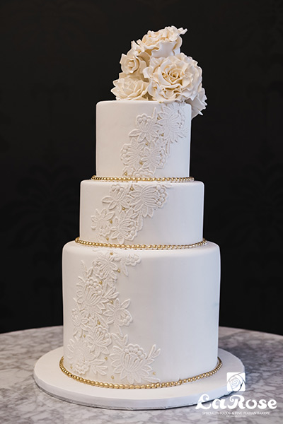 3 Layer Wedding Cake by La Rose in Milton, ON