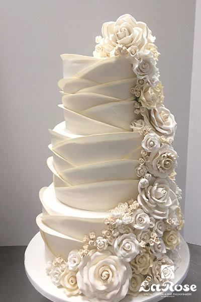 Floral Cascade Cake by La Rose in Milton, ON