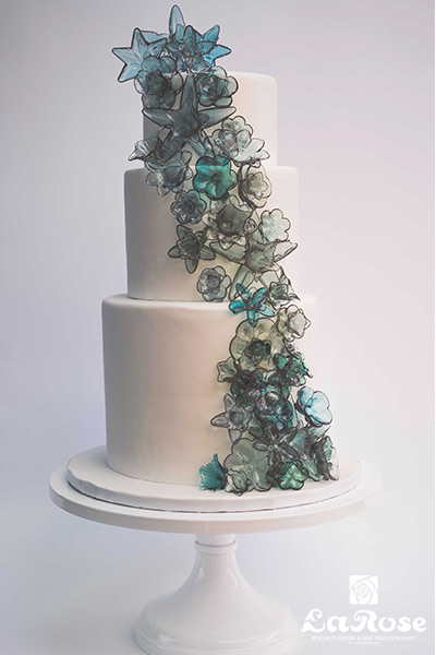Glass Flowers Cake by La Rose in Milton, ON