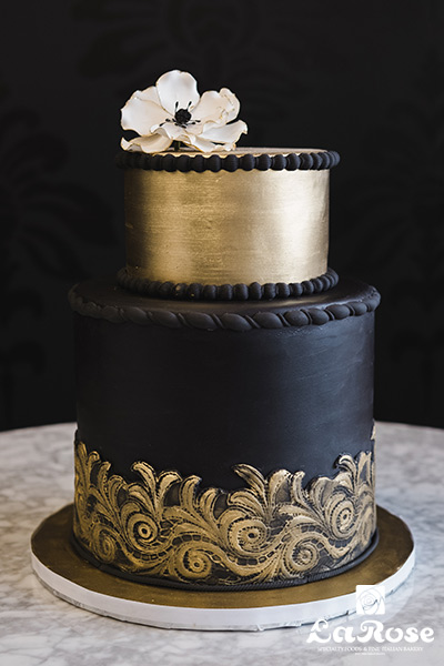Golden Black Cake by La Rose in Milton, ON