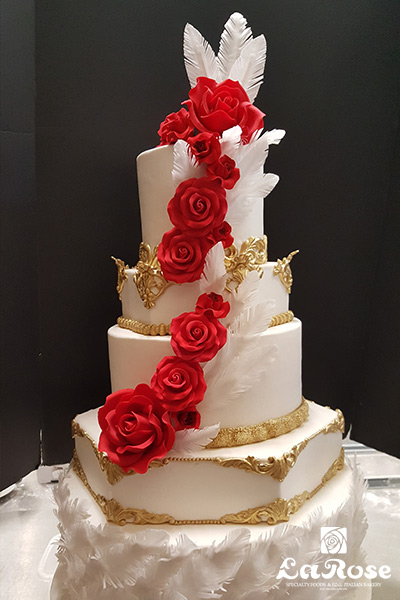 Golden Crown With Red Flowers