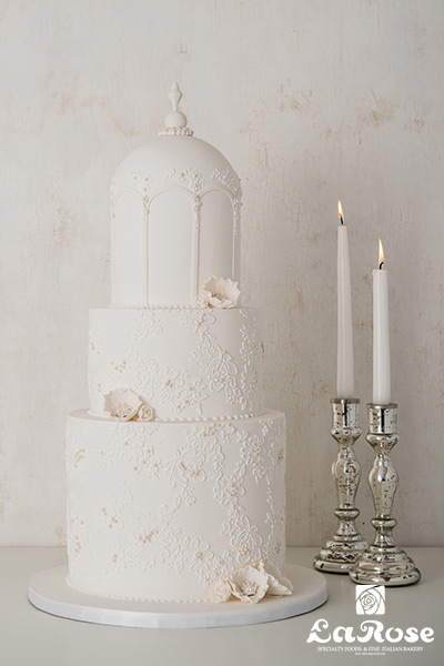 Lace Dome Vertical Cake by La Rose in Milton, ON