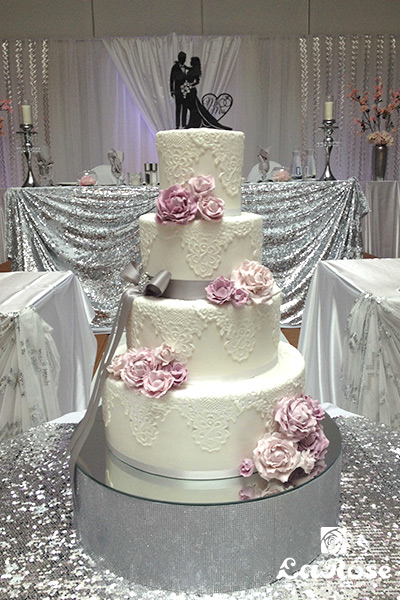 Lace Four Tier Cake by La Rose in Milton, ON
