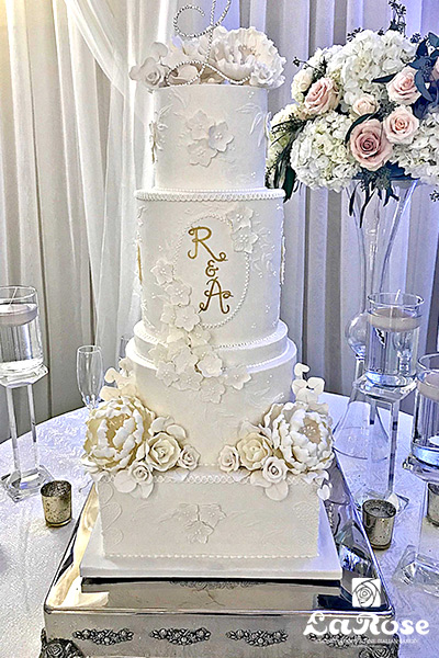 RA Wedding Cake by La Rose in Milton, ON