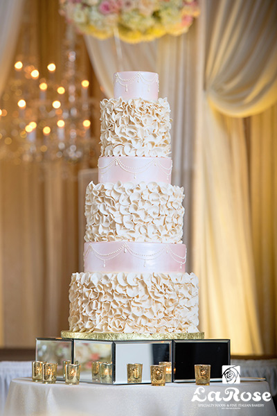 Rose And Ruffle Tiers Full Cake