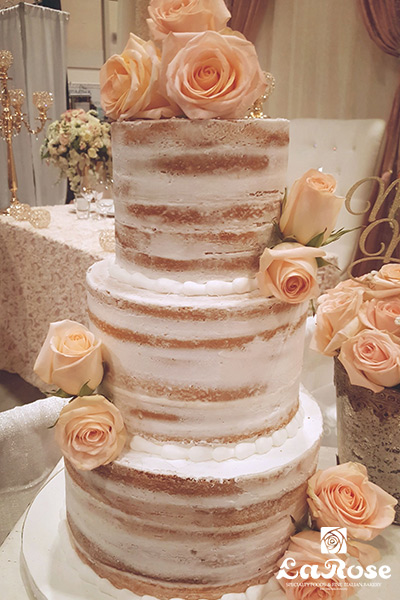 Semi Naked With Roses Cake by La Rose in Milton, ON