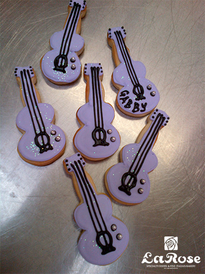 Guitar cookies by La Rose in Milton, ON