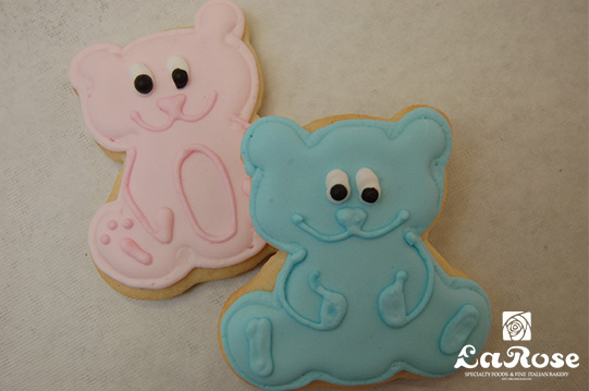 Pink and blue cookies by La Rose in Milton, ON