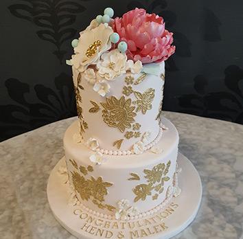 Anniversary cake - La Rose, Milton